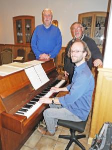 Friedhelm Gretzmann,Hans Jürgen Lieber, Chorleiter Jan Kampmeier