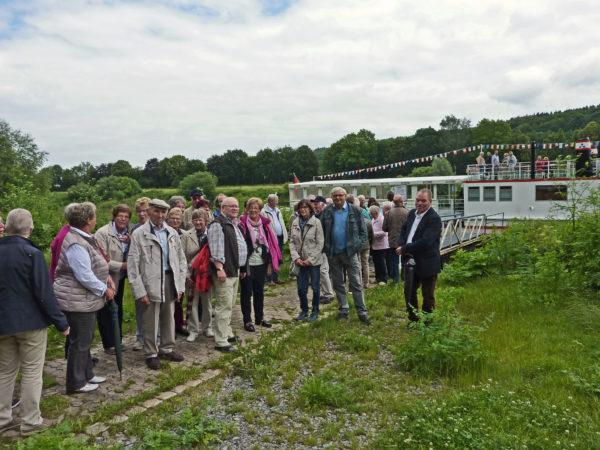 Beginn der Schiffstour auf der Weser